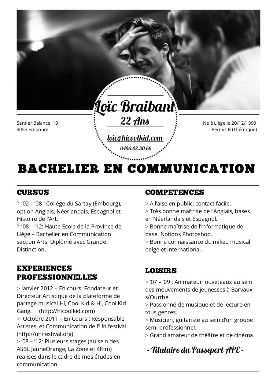 Lo 239 C Braibant Curriculum Vitae 2013 Docx Par Lo 239 C