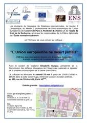 colloque l union europeenne ne meurt jamais 25 05 2013