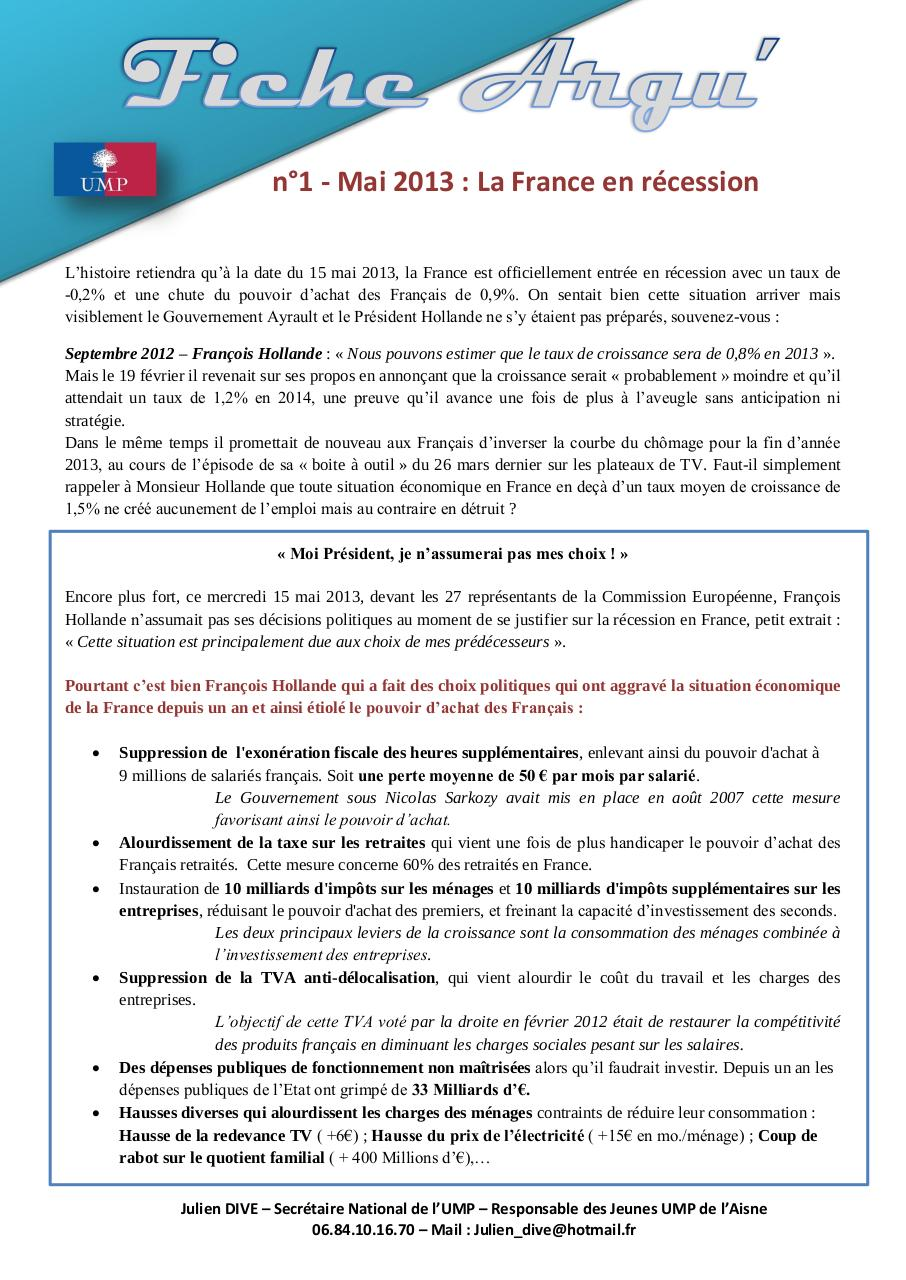 Aperçu du document Fiche Argu' n°1 - La France en récession..pdf - page 1/1