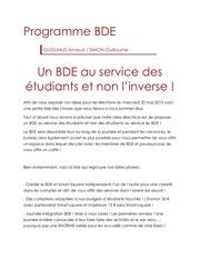 programme bde pdf
