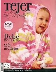 tejer la moda 43 bebe invierno