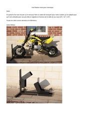 un sabot moto pour remorque