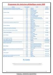 programme des emissions philatelique annee 2008