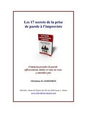 Fichier PDF parole a l improviste