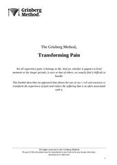 transforming pain