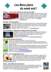 les bons plans du week end semaine n 21 2013