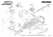 vue eclate traxxas rally 7407