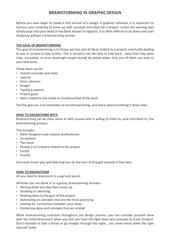 Fichier PDF brainstorming in graphic design