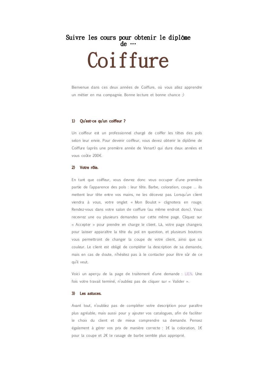Coupe de cheveux frange et lunettes coiffure vague de for Business plan salon de coiffure pdf
