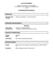 Cv Job étudiant Par Modele Cv Lettre Com Fichier Pdf