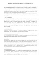 preparing and presenting a portfolio 1
