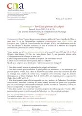 1ers ega samedi 8 juin 2013 conseil national des adoptes communique du 27 mai 2013