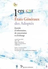 1ers etats generaux des adoptes samedi 8 juin 2013 brochure programme