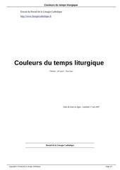 Fichier PDF couleurs du temps liturgique