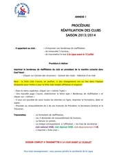1 procedure de reaffiliation des clubs