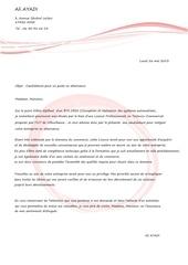 lettre de motivation pour entreprise technico