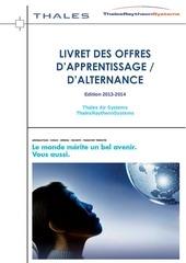 livret apprentissage alternance 2013 2014 thales