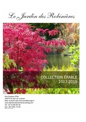catalogue erables japonais 2013 2015