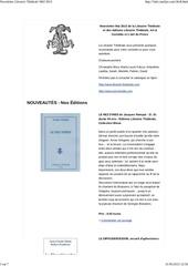 newsletter librairie the trale mai 2013