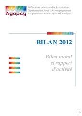 rapport d activite 2012 federation agapsy