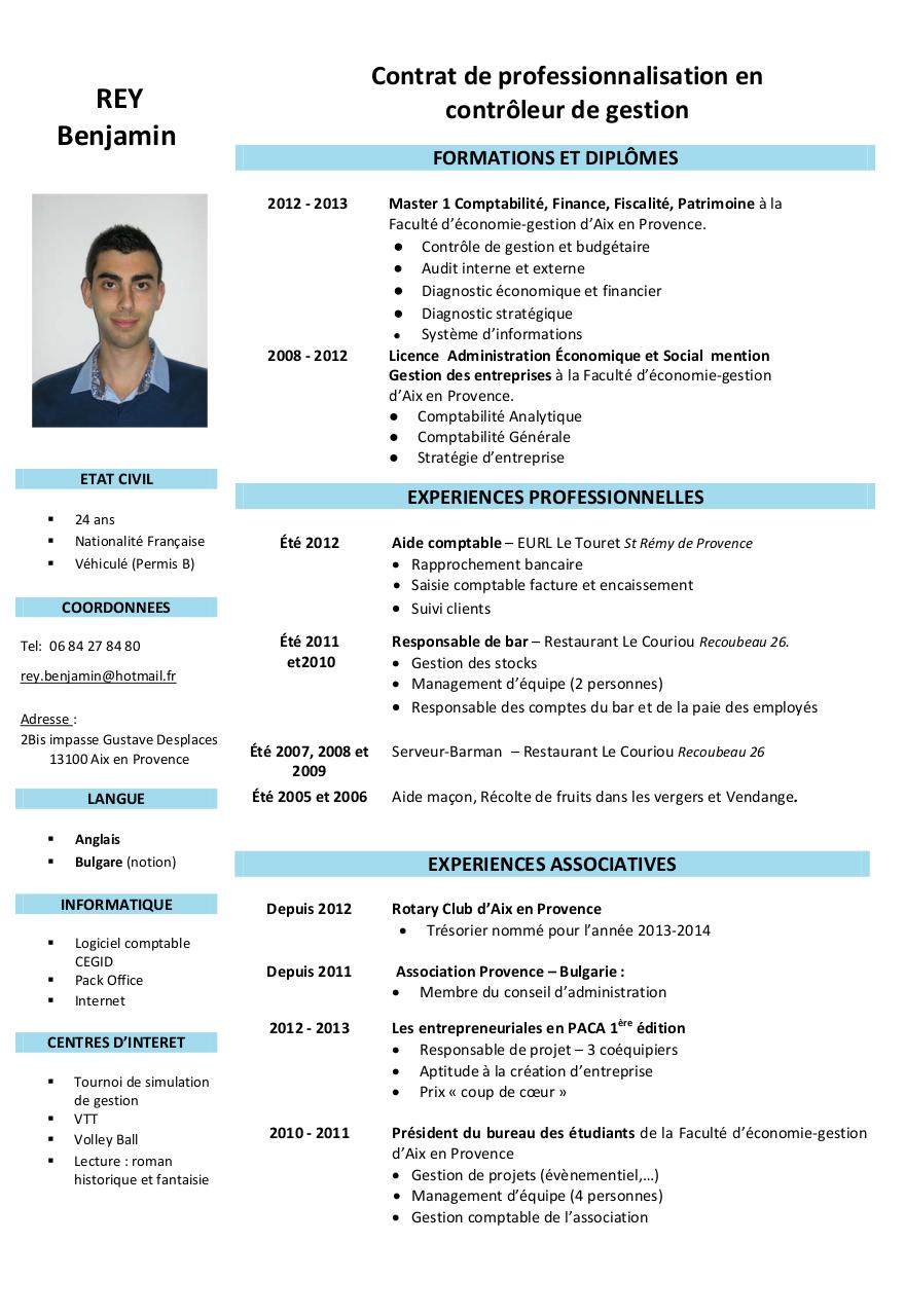 modele cv finance gratuit