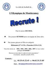 affiche recrutement 2013 2014