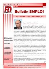 bulletin emploi contrat de generation