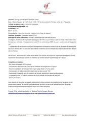 offre de stage fle master2 puerto montt chili mai 2013