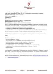 offre stage responsable pedagogique fle puerto montt chili
