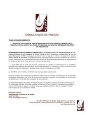 communiquE de presse shsme dossier centre culturel