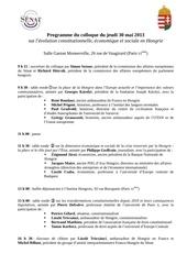 programme colloque senat hongrie 30052013