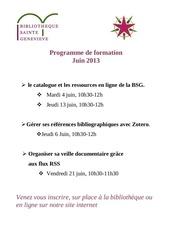 programme s formation juin2013