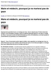 bjnsvr egora fr maire et medecin pourquoi je ne marierai pas de gays 2013 06 03