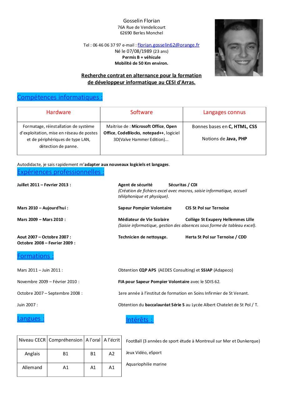 cv gosselin florian pdf par fra2polg1