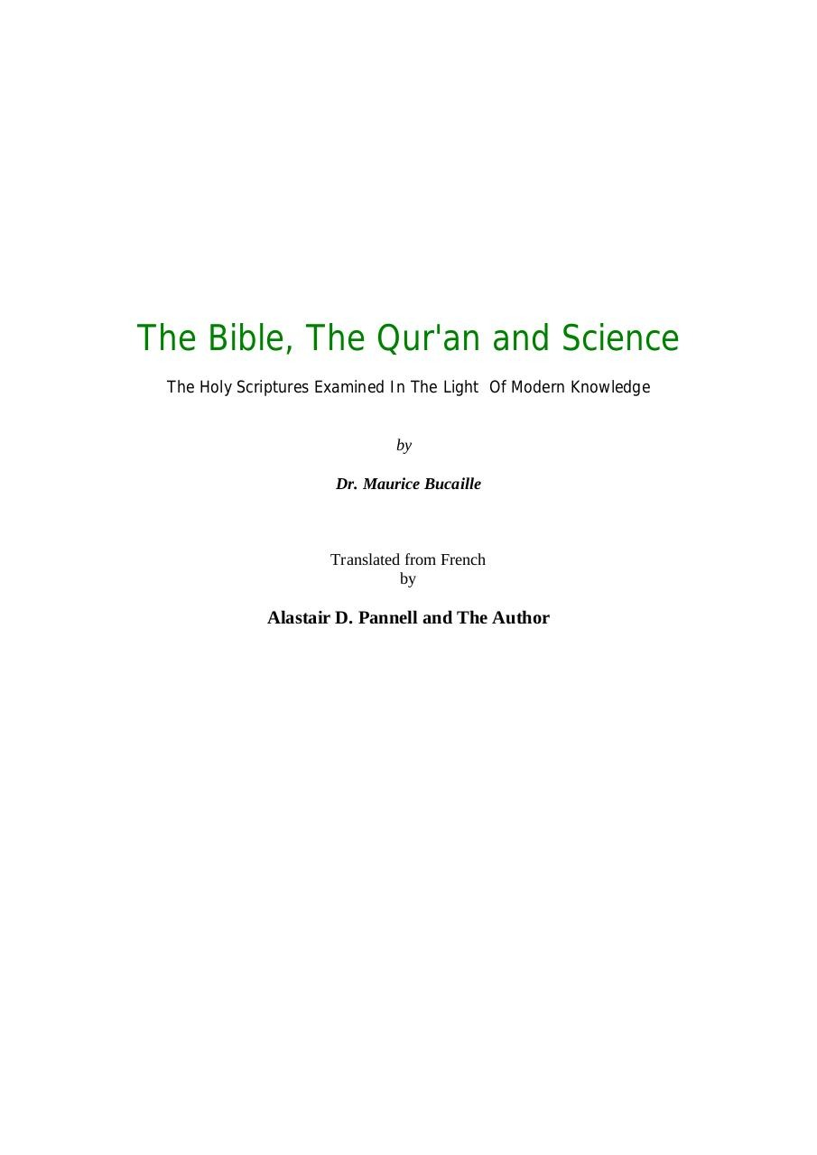 TheBibletheQuranScienceByDr.mauriceBucaille.pdf - page 1/186