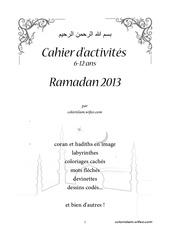 Fichier PDF cahier d activites ramadan 2013