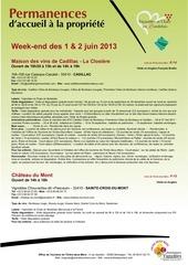 liste ch teaux de permanence les we juin 2013