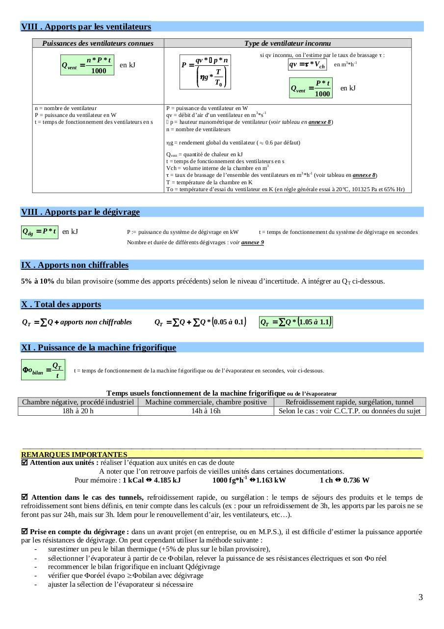 FRIGORIFIQUE TÉLÉCHARGER CALCULATRICE