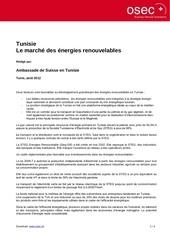 tunisie le marche des enr