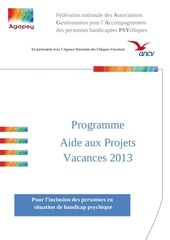 aide aux projets vacances 2013