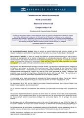 assemblee nationale commission compte rendu problematique sante et champs electromagnetiques 12 03 2013