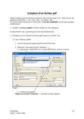 Fichier PDF creation pdf ca