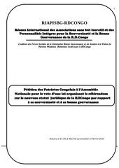note explicative de la petition du riapisbg rdcongo sur le nouveau statut juridique de la rdcongo version actualisee mars 2013