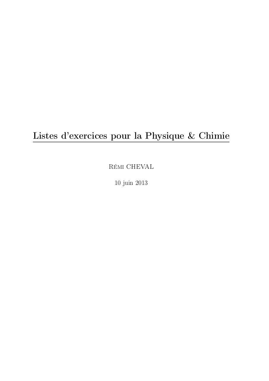 Aperçu du document PC - Listes d'exercices.pdf - page 1/13