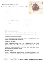recette tarte au chocolat framboise