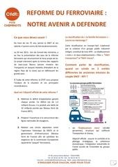 reforme ferroviaire argumentaire juin 2013