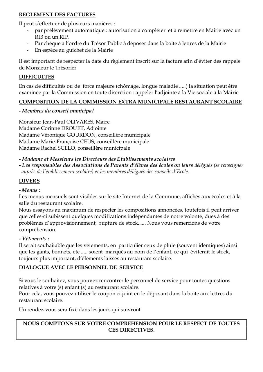 Reglement des factures par poste3 r glement int rieur for Le reglement interieur