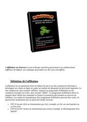 Fichier PDF affiliation