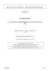 mathematiques st2s 2013