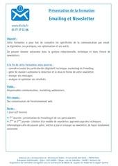 presentation formation emailing et newsletter
